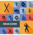 Ninja Icons Black Set vector image