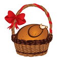 Roasted Turkey in a Basket vector image