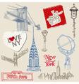 Scrapbook Design Elements - New York Doodle Set vector image