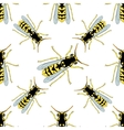 Seamless pattern with Wasp hand-drawn Wasp vector image