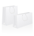 set of white blank paper shoping bag vector image