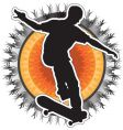 skateboarder design vector image