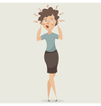 woman in stress depression and suffering emotions vector image