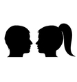 Man and woman face profile vector image