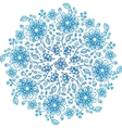 Blue flowers ornate background vector image