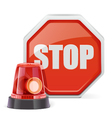 Flasher with Sign vector image
