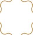 Golden Chain of Abstract Shape vector image vector image