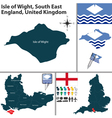Isle of Wight South East England vector image