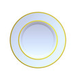 china plate vector image vector image