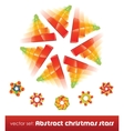 collection of impossible christmas snowflakes vector image vector image