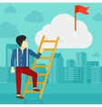 Man climbing the ladder vector image