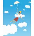 Flying girl vector image vector image