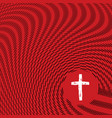 abstract sketch waves surrounding christian cross vector image