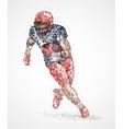American football player vector image