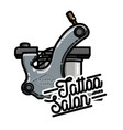 color vintage tattoo salon emblem vector image