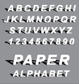 cutted paper alphabet letters vector image