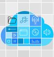 Media storage cloud technology concept vector image