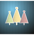 Retro Background with Paper Trees vector image