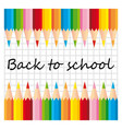 Set of colorful pencils back to school vector image vector image
