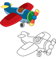 Toy plane vector image vector image