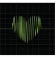 Green heart vector image vector image