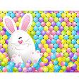 Easter rabbit in candies vector image vector image