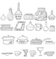 drawing utensils vector image
