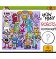 how many robots vector image vector image