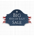 Big 4th of July Sale Label with Ribbon vector image