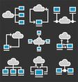 Cloud Computing Icons Set vector image