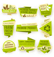 ecology green origami paper banners eco natural vector image