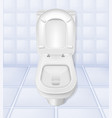 realistic toilet mockup closeup white toilet in vector image