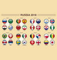 russia 2018 fifa world cup group competitions vector image