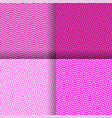 set of four seamless wavy pink pattern vector image