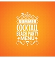 summer cocktail party menu design background vector image