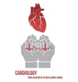 Your heartbeat in our caring hands vector image