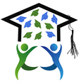 symbol of graduation vector image vector image