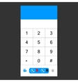 Number set keypad for the smartphone vector image