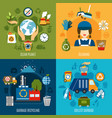 garbage collecting design concept vector image