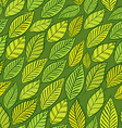 Seamless floral background green leaves seamless vector image vector image