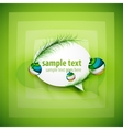 Modern abstract speech bubble with Christmas vector image vector image