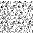 abstract flowers black seamless background vector image