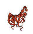 art red tentacles of the vector image