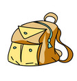 backpack cartoon hand drawn image vector image