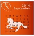 calendar 2014 september vector image