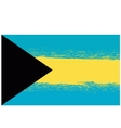 Grunge Flag of Bahamas Isolated vector image