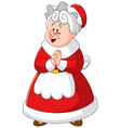 mrs claus vector image