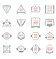 Set of Hipster Vintage Labels or Badges Thin Line vector image