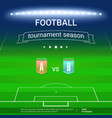 template of football championship with template of vector image