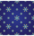 Winter dark blue seamless pattern vector image